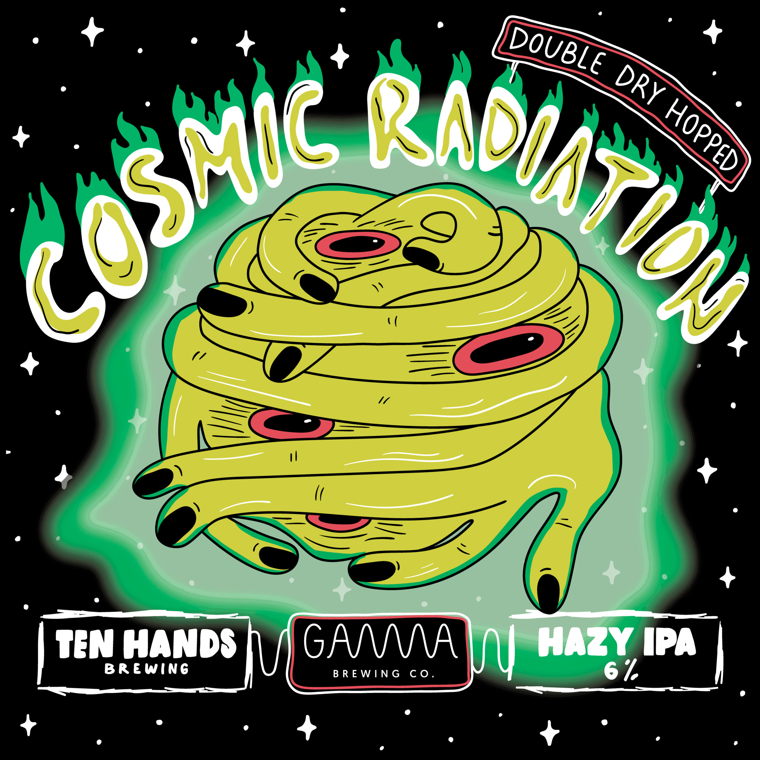 Double Dry Hopped Cosmic Radiation